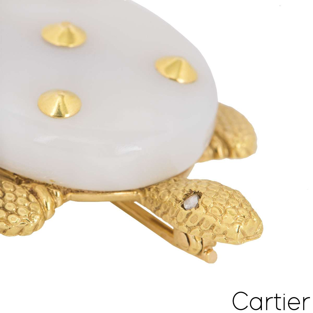 Cartier Yellow Gold Chalcedony Turtle Brooch